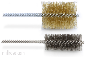 double spiral tube brushes