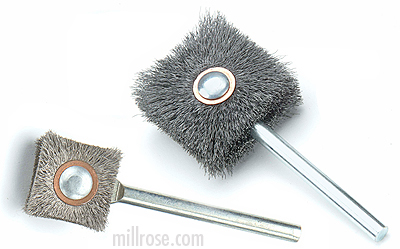 "Square Side / Bottom or Si-Bot Brushes - 1/4"" Shank"